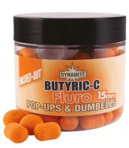 Бойлы ​Dynamite Baits Butyric-C Fluro Washed-Out Pop-ups & Dumbells