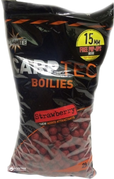 Бойлы Dynamite Baits CarpTec Strawberry 15мм/2кг
